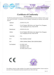 MB360 Series CE Certificate