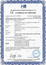 LH3000 CE-RED Certificate