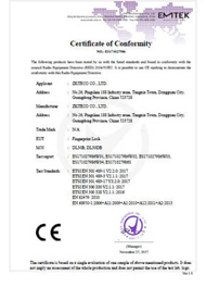 DL30B CE-RED Certificate